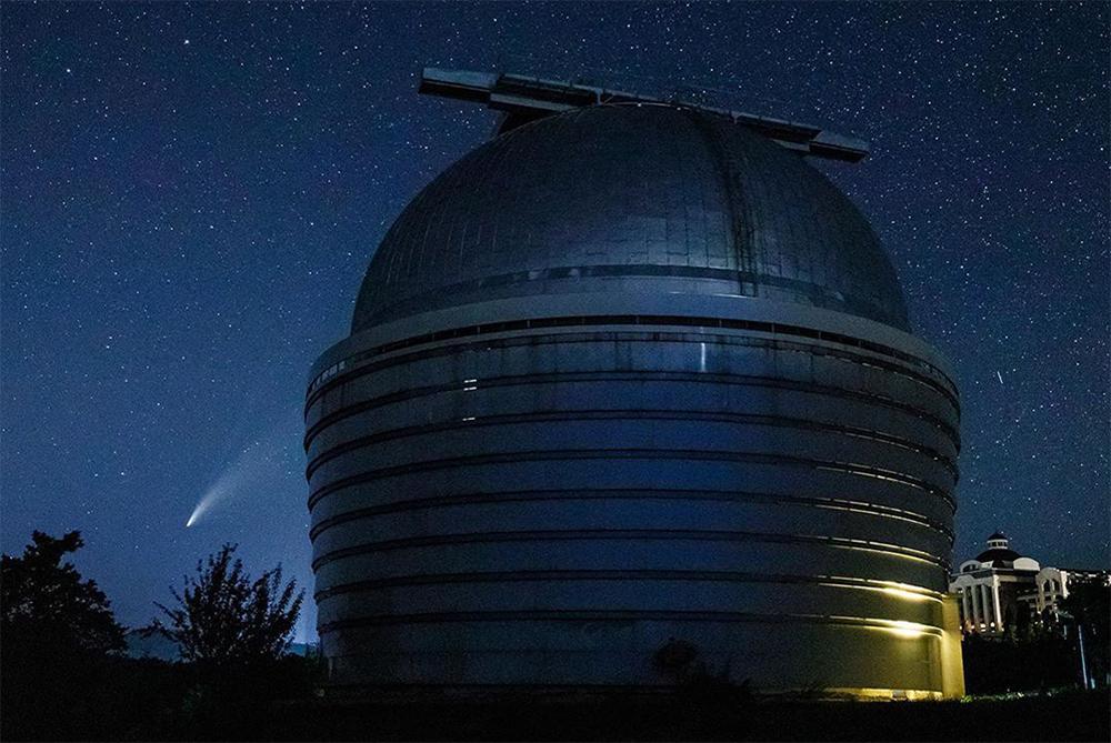 Rəsədxanada C/2020 F3 kometinin spektral və fotometrik müşahidəsi aparılıb