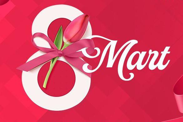 8 Mart təbriki