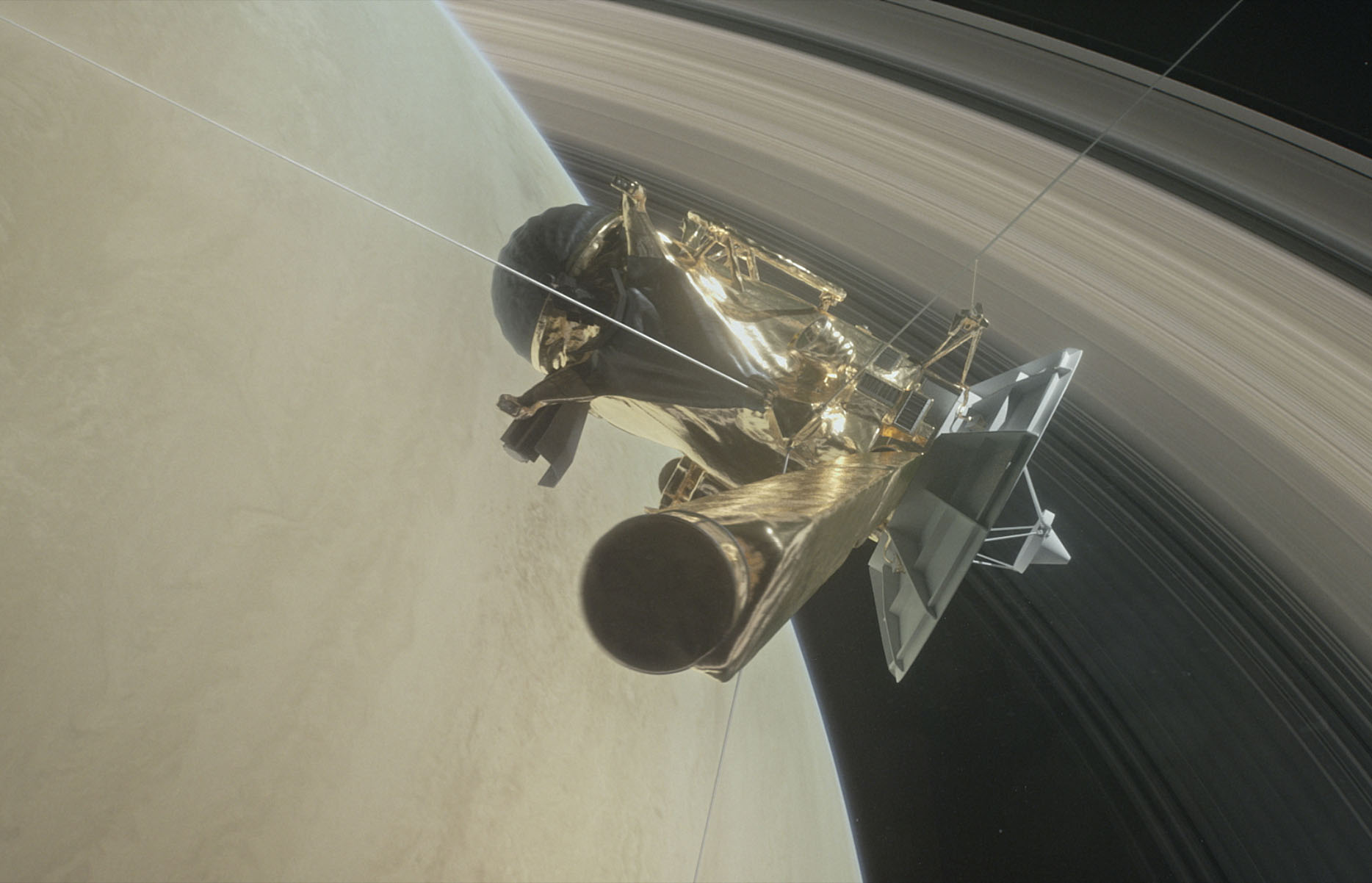 The mission of Cassini-Huygens is over